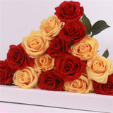 15pcs Realistic Artificial Rose Bouquet-home accent-wanahavit-red dark yellow-wanahavit