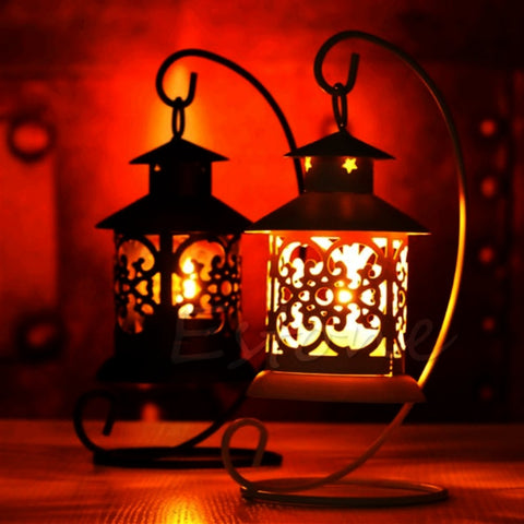 Romantic Lantern Candle Holder-home accent-wanahavit-Black-wanahavit