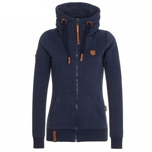 Fashion Fleeces Hoodies Ladies Sweatshirts-women-wanahavit-Navy blue-S-wanahavit