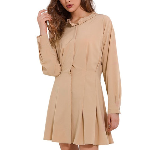 Casual Chiffon Pleated Dress