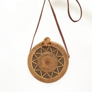 Bohemian Circular Wicker Rattan Shoulder Bag-women-wanahavit-(20cm<Max Length<30cm)-wanahavit