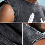 Goat Printed Cotton Sleeveless Shirt-men fashion & fitness-wanahavit-Black-M-wanahavit