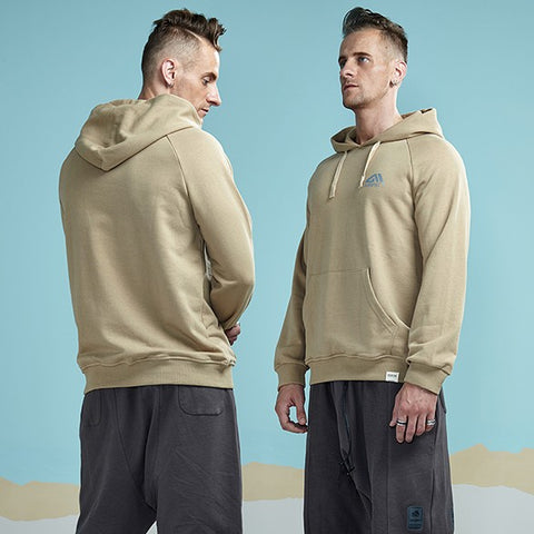 Casual Solid Color Hooded Sweatshirt with Pocket-men fashion & fitness-wanahavit-Khaki-M-wanahavit