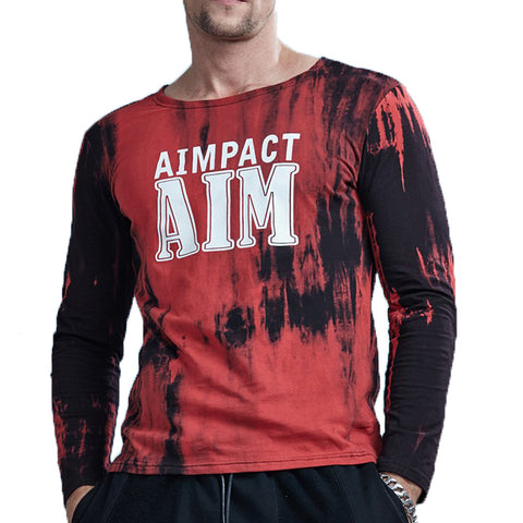 Cotton Long Sleeve Dripping Dye Shirt
