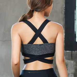 Sexy Backless Two Color Shakeproof Sports Bra-women fitness-wanahavit-Black-L-wanahavit