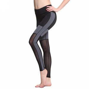 Elastic Mesh Patchwork Sport Leggings-women fitness-wanahavit-Black-L-wanahavit