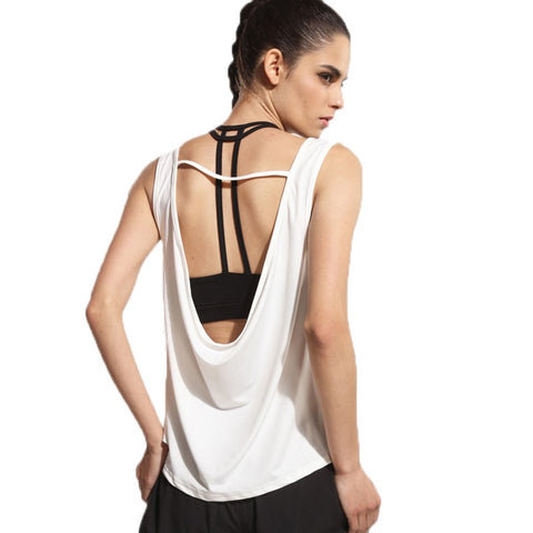 Quick Dry Breathable Loose Sleeveless Shirt-women fitness-wanahavit-White-S-wanahavit