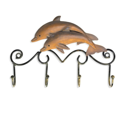 Iron Vintage Dolphin Wall Hanger Hook-home accent-wanahavit-wanahavit