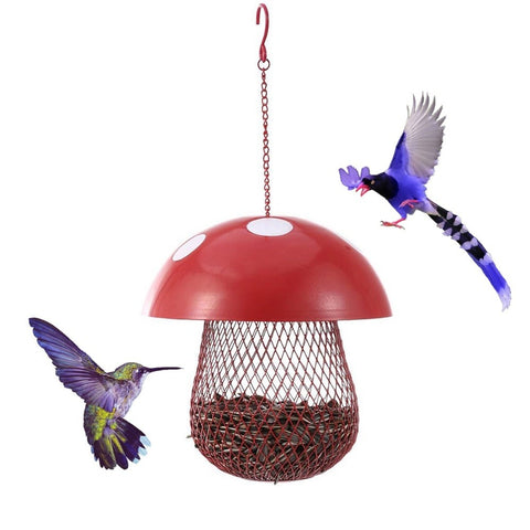 Iron Mushroom Shaped Bird Feeder