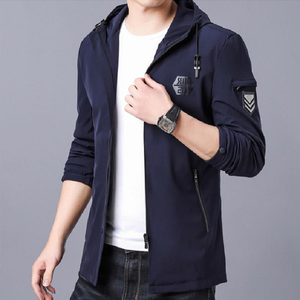 High Street Trendy Korean Overcoat Jacket-men-wanahavit-Navy Blue-L-wanahavit