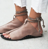 Ankle Strap Soft Leather Flat Sandals-women-wanahavit-coffee-5-wanahavit