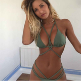 Sexy Braided Strap Brazilian Bikini-women fitness-wanahavit-Green-L-wanahavit