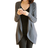 Winter Crochet Long Sleeve Cardigan-women-wanahavit-Gray-S-wanahavit