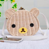 Cute Bear Rattan Shoulder Bag-women-wanahavit-2-wanahavit