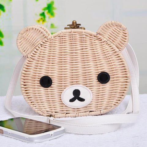 Cute Bear Rattan Shoulder Bag-women-wanahavit-1-wanahavit