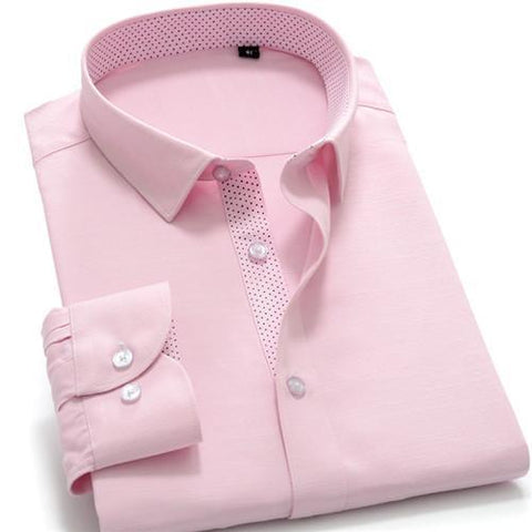 High Quality Solid Cotton Long Sleeve Shirt #AMM1X-men-wanahavit-AMM102-S-wanahavit