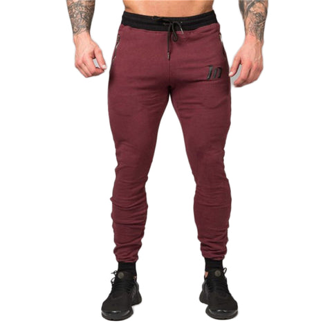 Casual Slim Fit Jogger Pants-men fashion & fitness-wanahavit-Burgundy-M-wanahavit