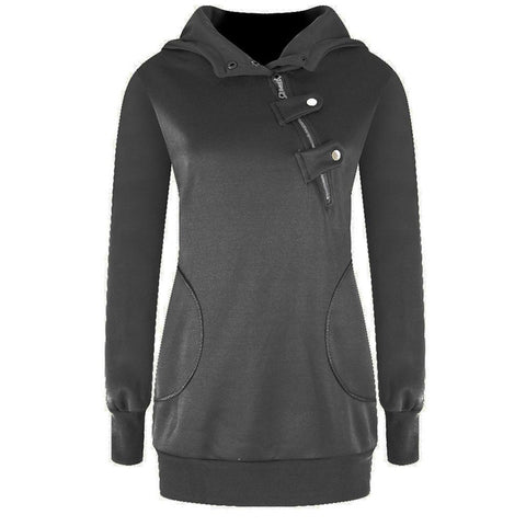 Oblique Zippered Winter PulloverHoodies-women-wanahavit-Dark Gray-S-wanahavit