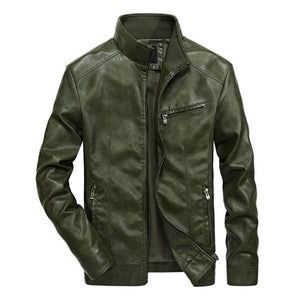 Biker Leather Windbreaker Jackets-unisex-wanahavit-Green-XL-wanahavit