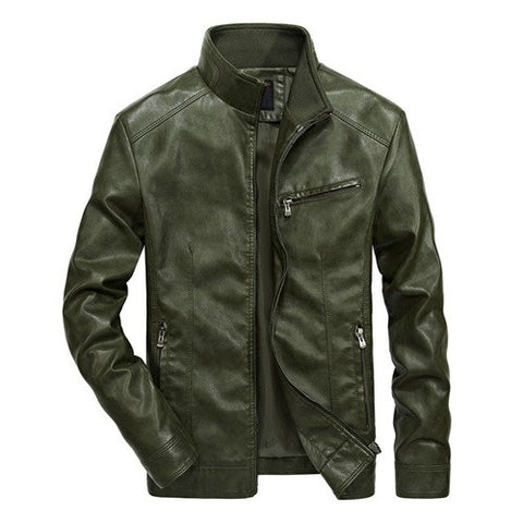 Biker Leather Windbreaker Jackets