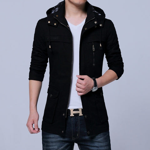 Fashionable Thick Cotton Casual Hooded Jacket