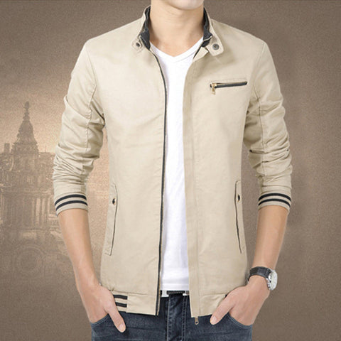 Fashionable Cotton Casual Zipper Jacket