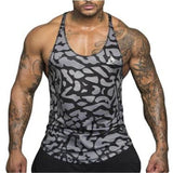 Camouflage Stripe Printed Tank Tops-men fitness-wanahavit-A5-M-wanahavit