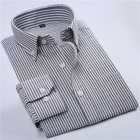 High Quality Striped Twill Long Sleeve Shirt #NJFXX-men-wanahavit-NJF20-S-wanahavit