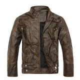 Elegant Biker Leather Bomber Jackets-unisex-wanahavit-Brown-XXXL-wanahavit