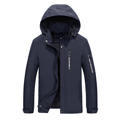 Mandarin Collar Hooded Slim Fit Jacket-unisex-wanahavit-Blue-S-wanahavit