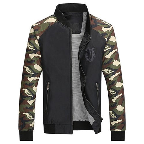 Camouflage Spliced Hip Hop Jacket - unisex - wanahavit