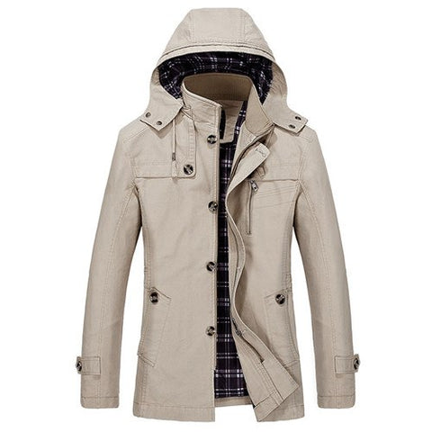 Trench Casual Solid Wadded Jacket