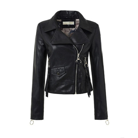 Gothic Oblique Faux Leather Jacket-women-wanahavit-black-L-wanahavit