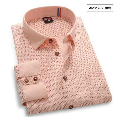 High Quality Polka Dot Long Sleeve Shirt #AMMX-men-wanahavit-AMM207-S-wanahavit
