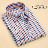 Striped Cotton Long Sleeve Shirt #711XX-men-wanahavit-71109-S-wanahavit