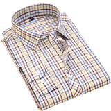 Striped Cotton Long Sleeve Shirt #711XX-men-wanahavit-71107-S-wanahavit