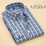 Striped Cotton Long Sleeve Shirt #711XX-men-wanahavit-71105-S-wanahavit