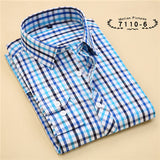 Striped Cotton Long Sleeve Shirt #711XX-men-wanahavit-71106-S-wanahavit