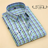 Striped Cotton Long Sleeve Shirt #711XX-men-wanahavit-71108-S-wanahavit