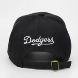 LA Dodgers Embroid Baseball Cap-unisex-wanahavit-Black.White-wanahavit