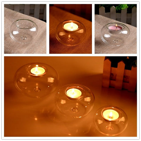 Crystal Glass Candle Holder-home accent-wanahavit-A1 8cm-wanahavit