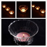Crystal Glass Candle Holder-home accent-wanahavit-D1 8cm-wanahavit