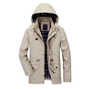 Elegant Cotton Windbreaker Winter Jacket-unisex-wanahavit-Khaki-XL-wanahavit