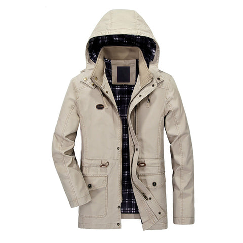 Elegant Cotton Windbreaker Winter Jacket