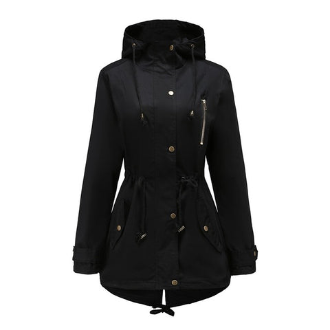 Warm Gothic Lace Up Hooded Coat