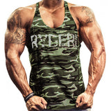 Ryder Camouflage Print Tank Tops-men fitness-wanahavit-Army Green-M-wanahavit