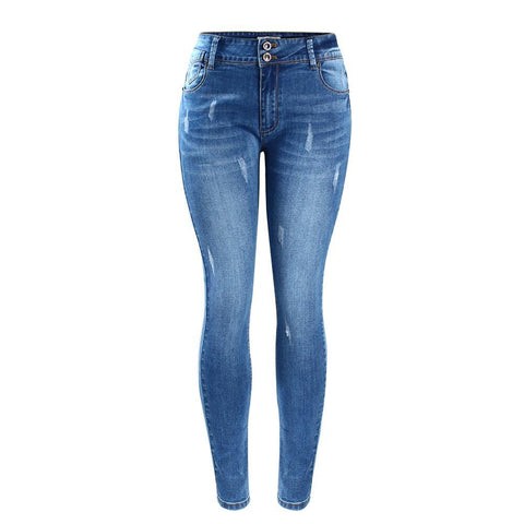 Fading Stretch Skinny Denim Jeans-women-wanahavit-blue-S-wanahavit