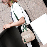 Bohemian Straw Hollow Out Set Backpack + Shoulder Bag + Clutch