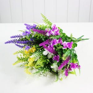 5 Heads Artificial Butterfly Lavender Bouquet-home accent-wanahavit-Purple-wanahavit