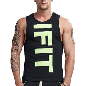 IFIT Print Vivid Workout Sleeveless Shirt-men fashion & fitness-wanahavit-Black-M-wanahavit
